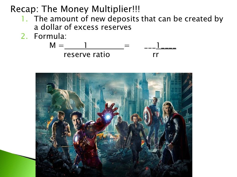Recap: The Money Multiplier!!!