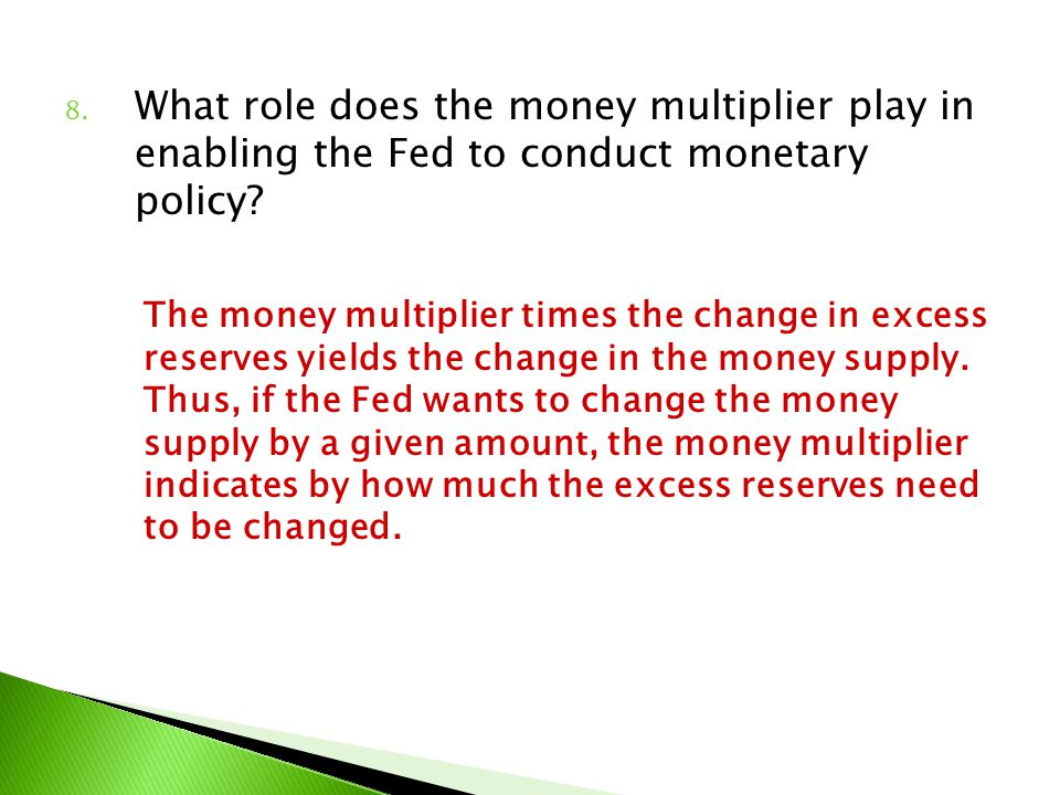 What role does the money multiplier play in enabling the Fed to conduct monetary policy