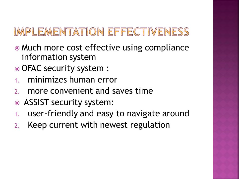 Implementation Effectiveness