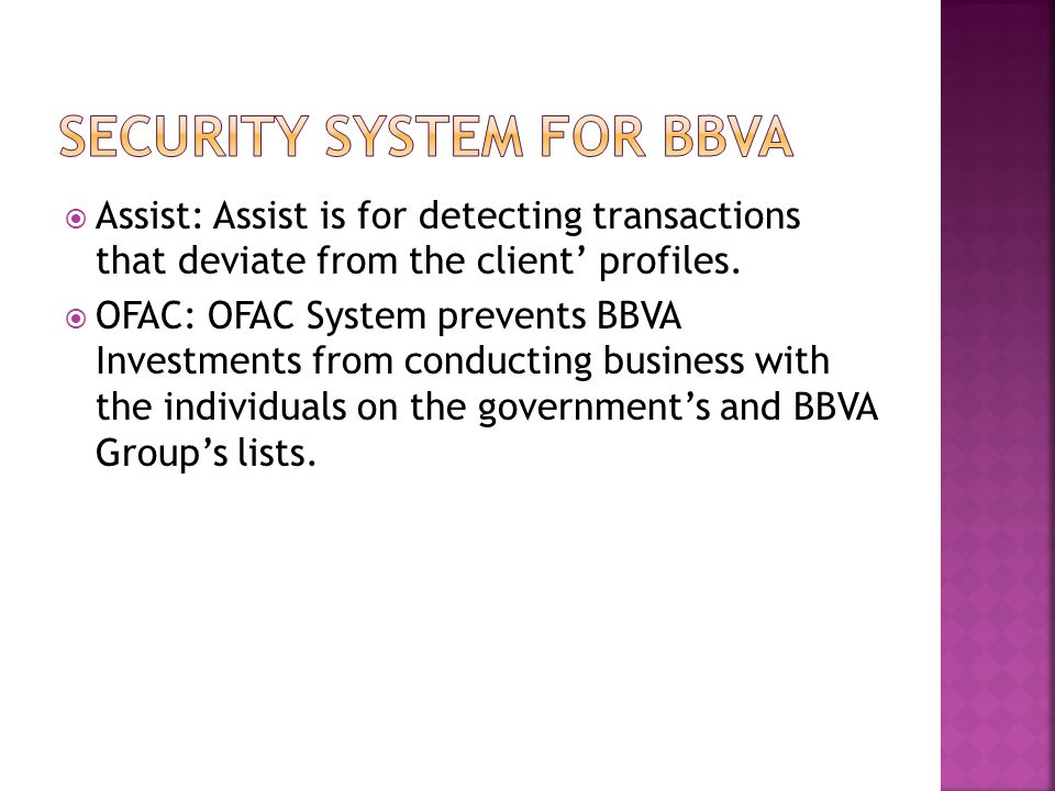 Security System for BBVA