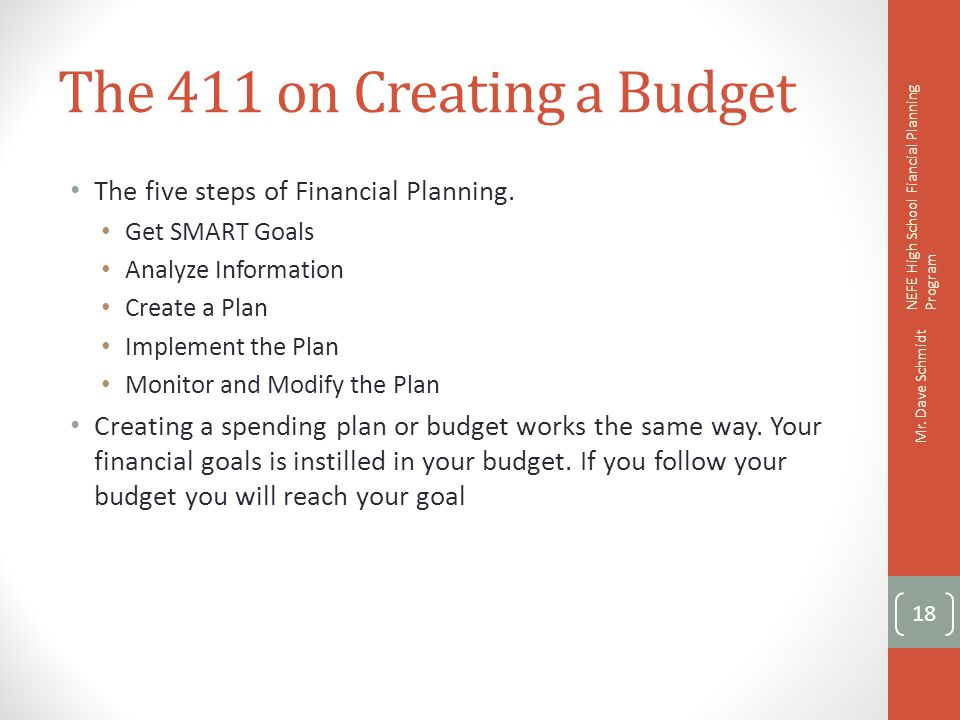 The 411 on Creating a Budget