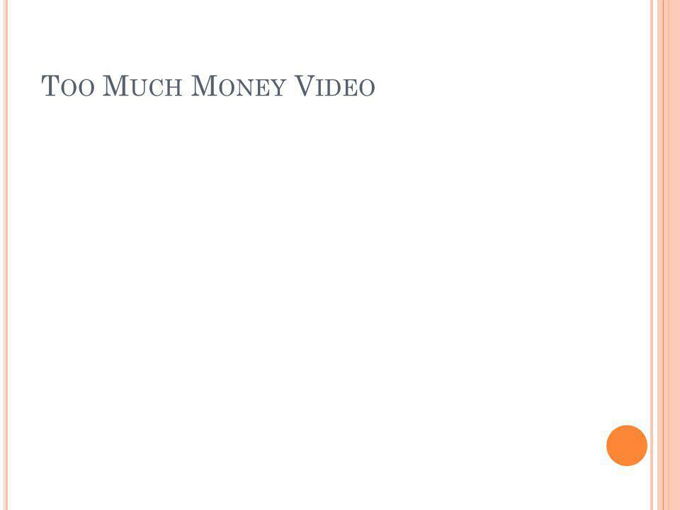Too Much Money Video