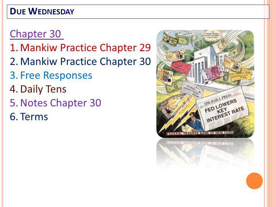 Mankiw Practice Chapter 29 Mankiw Practice Chapter 30 Free Responses