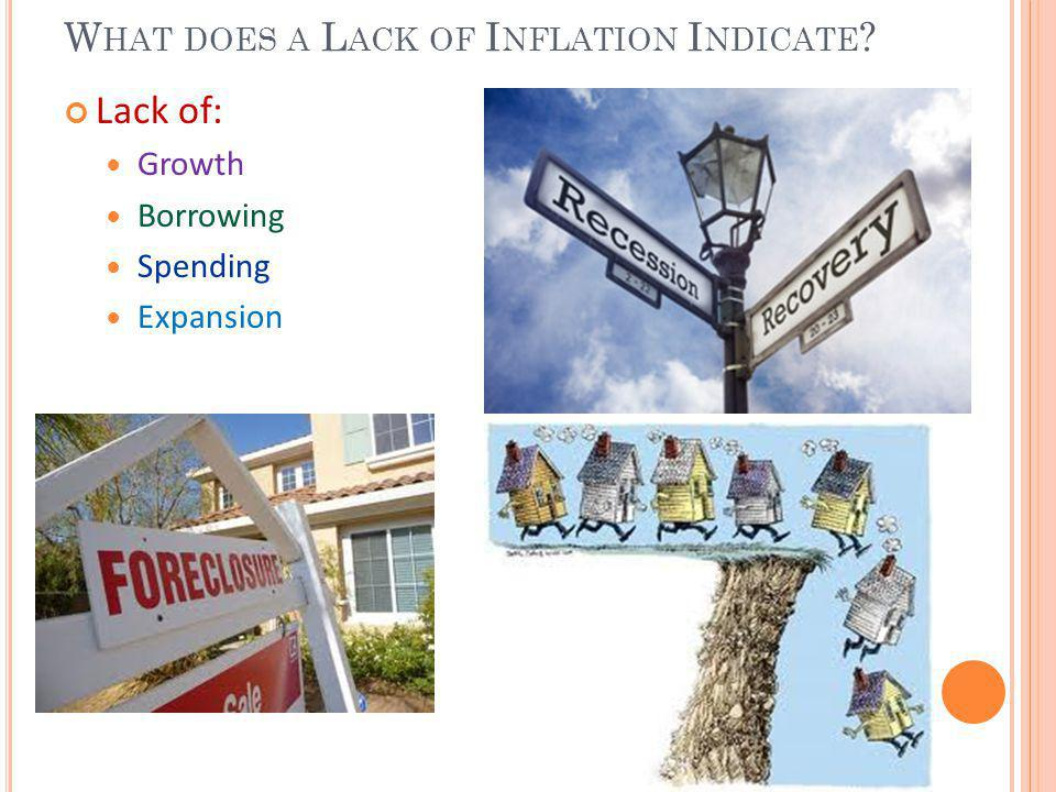 What does a Lack of Inflation Indicate