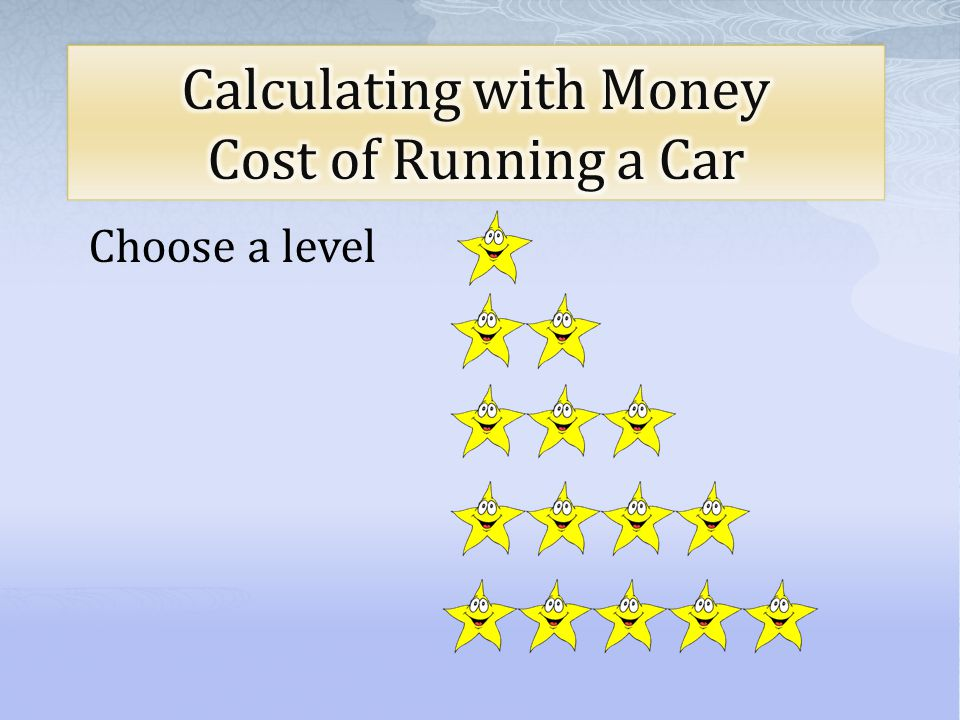 Calculating with Money Cost of Running a Car