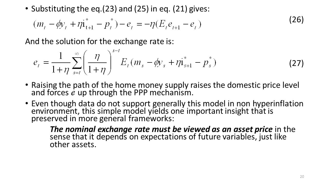 Substituting the eq.(23) and (25) in eq. (21) gives: