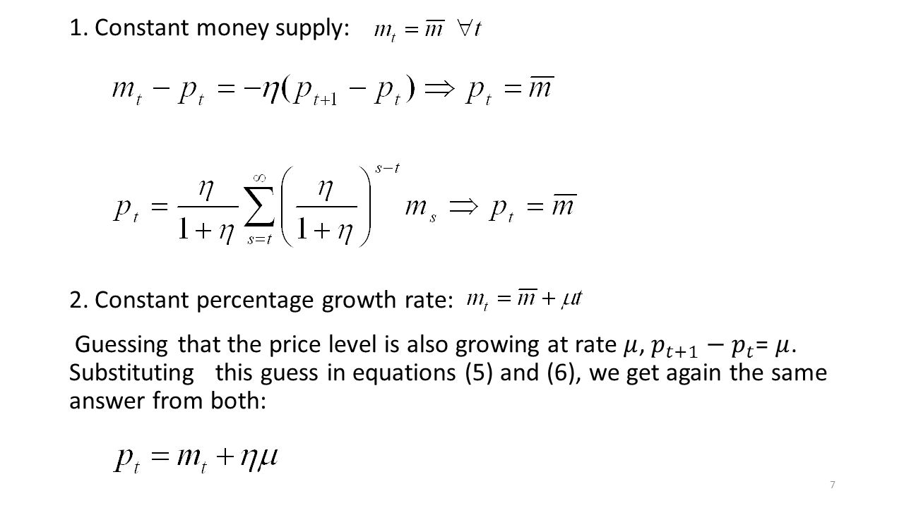 Constant money supply: