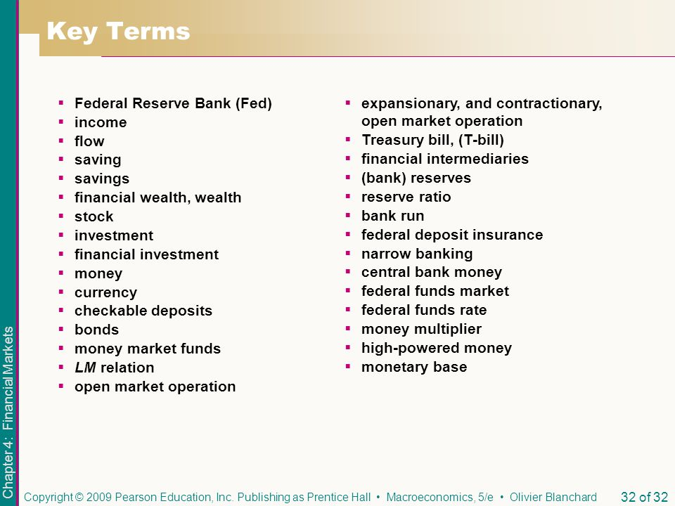 Key Terms Federal Reserve Bank (Fed) income flow saving savings
