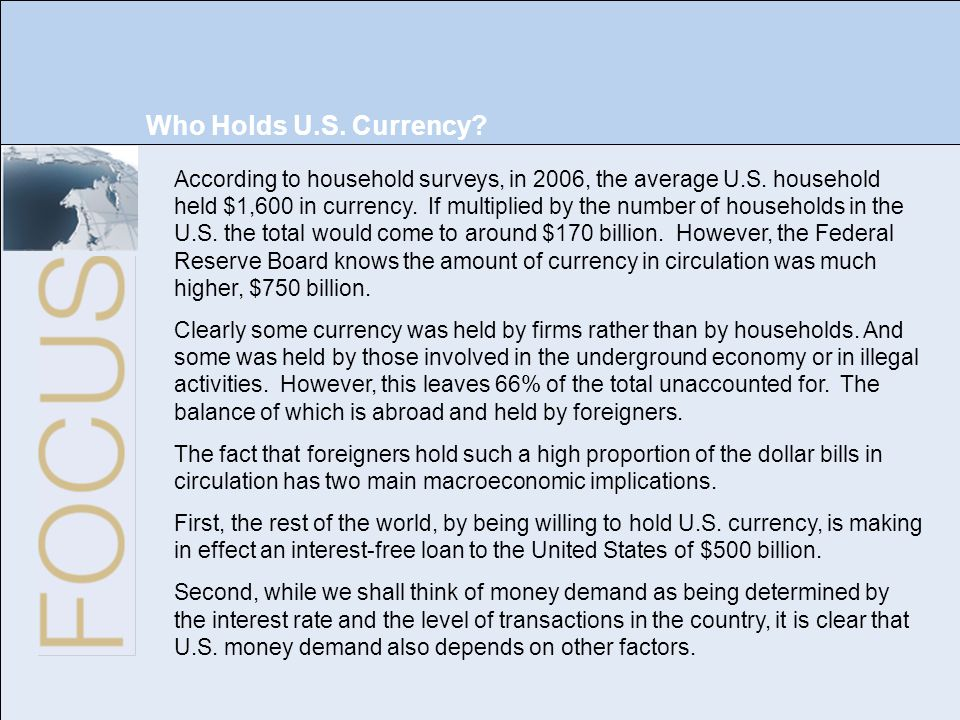 Who Holds U.S. Currency