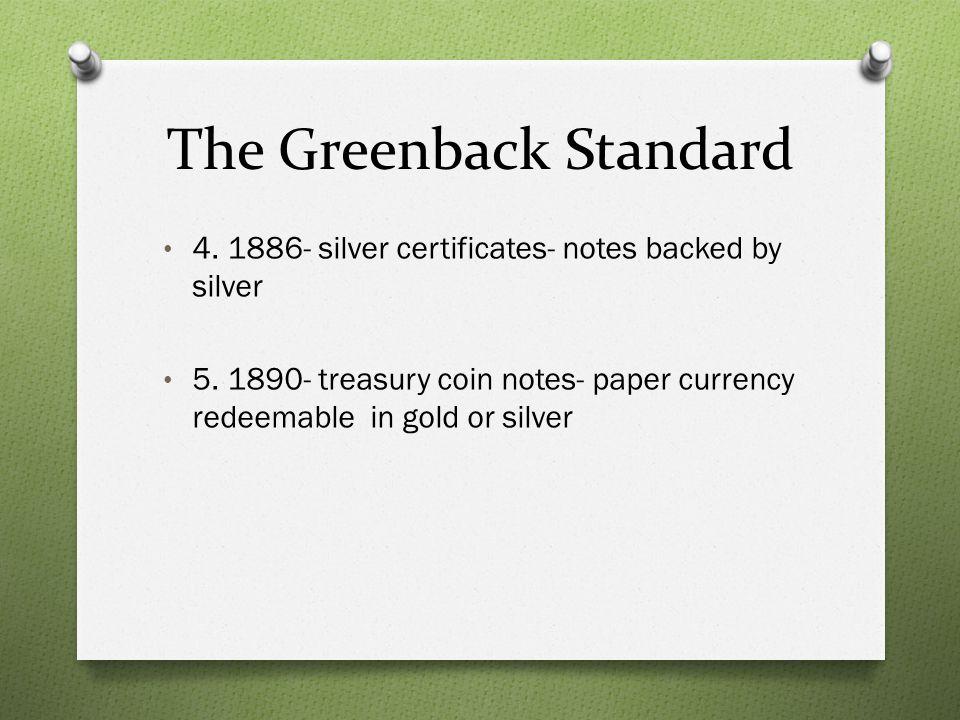 The Greenback Standard