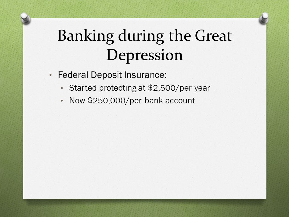 Banking during the Great Depression
