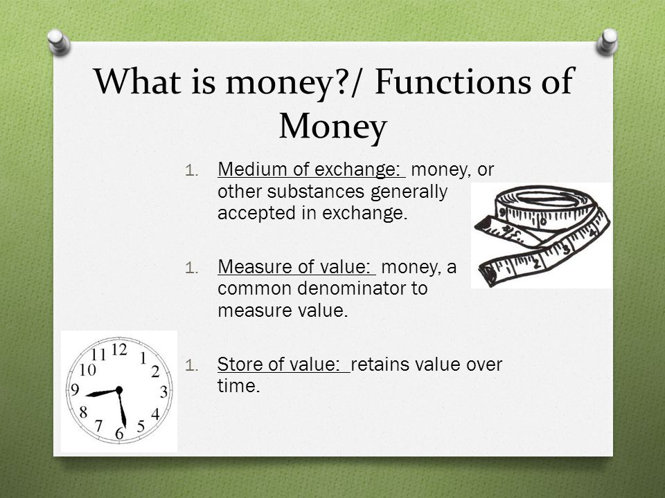What is money / Functions of Money