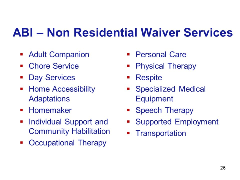 ABI – Non Residential Waiver Services