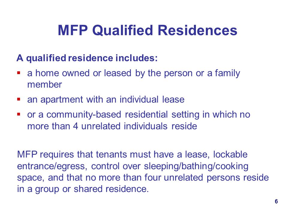 MFP Qualified Residences