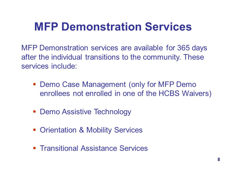 MFP Demonstration Services