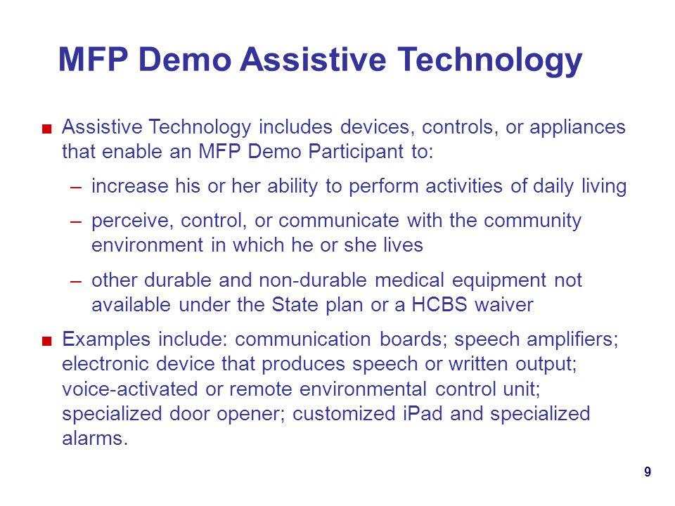MFP Demo Assistive Technology