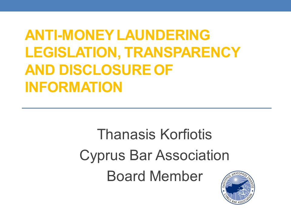 Thanasis Korfiotis Cyprus Bar Association Board Member