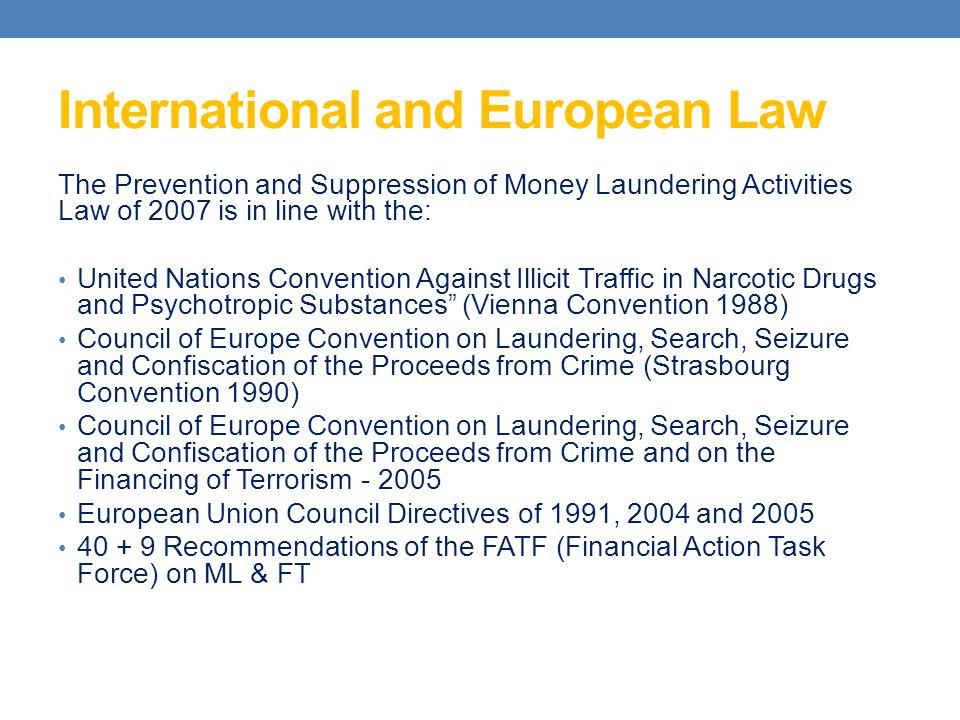 International and European Law