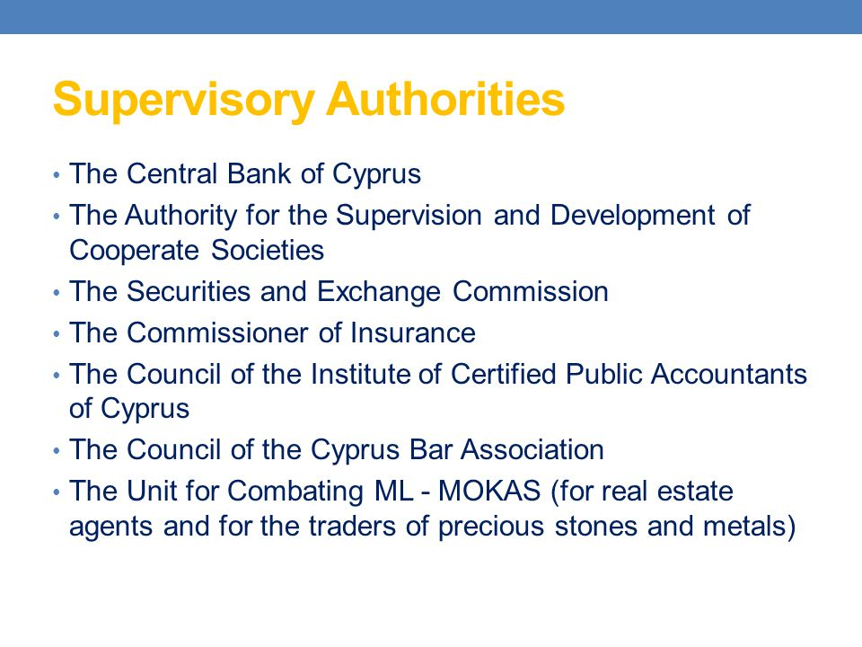 Supervisory Authorities