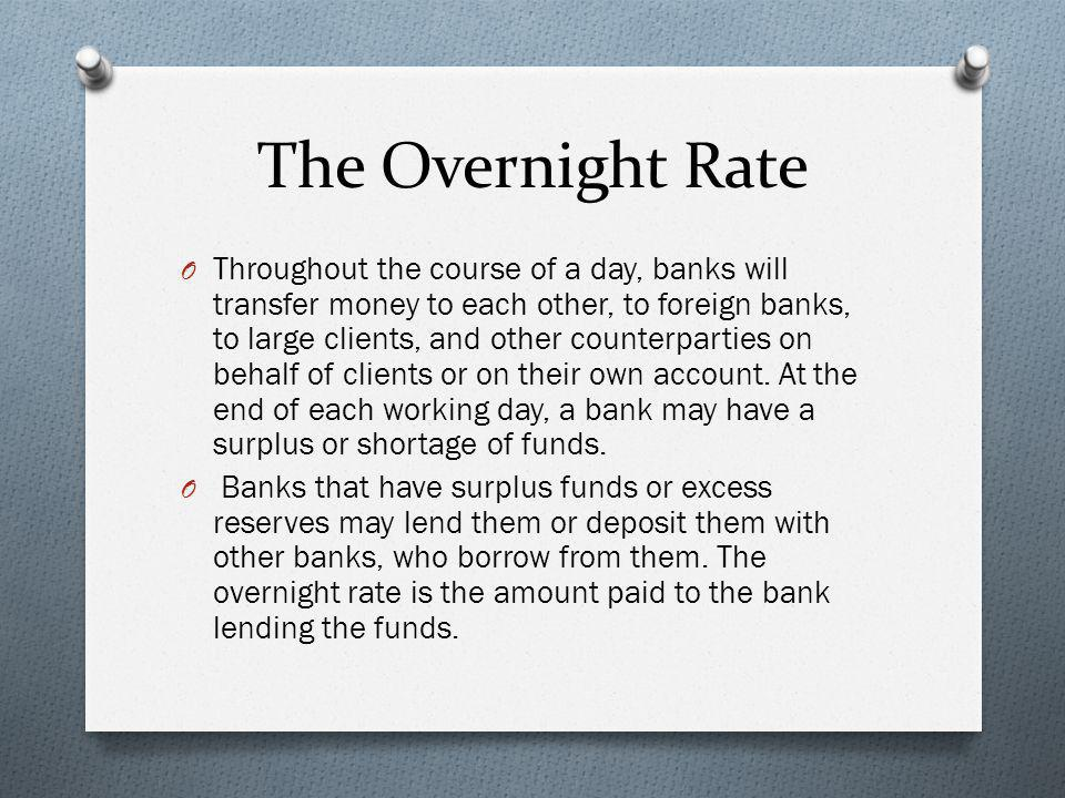 The Overnight Rate