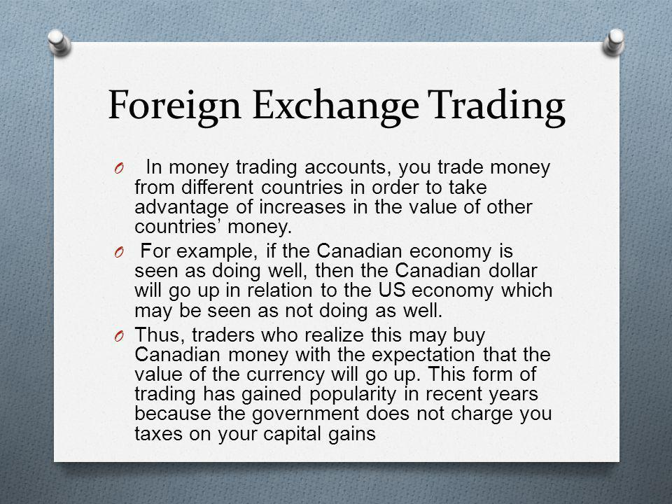Foreign Exchange Trading