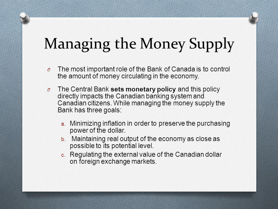 Managing the Money Supply