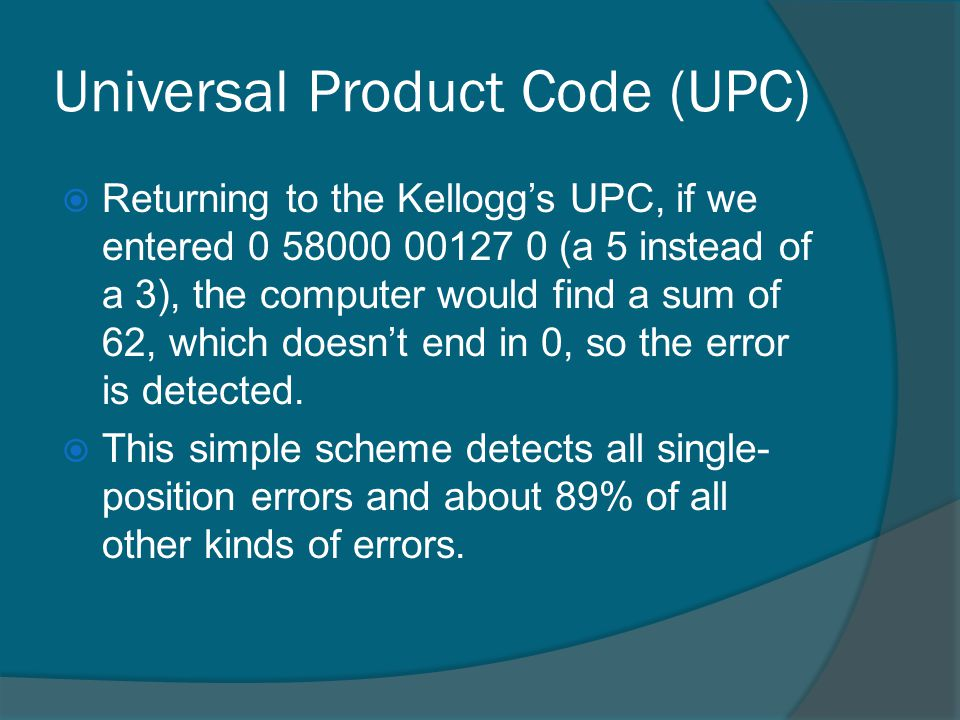 Universal Product Code (UPC)