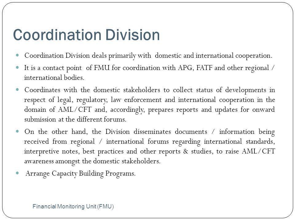 Coordination Division