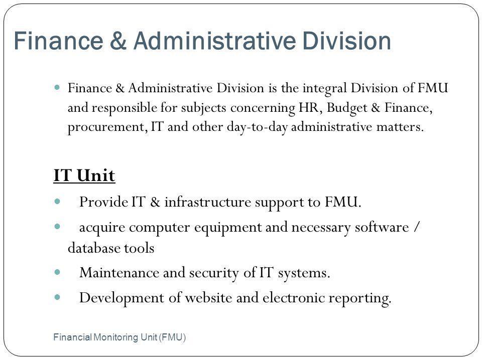 Finance & Administrative Division