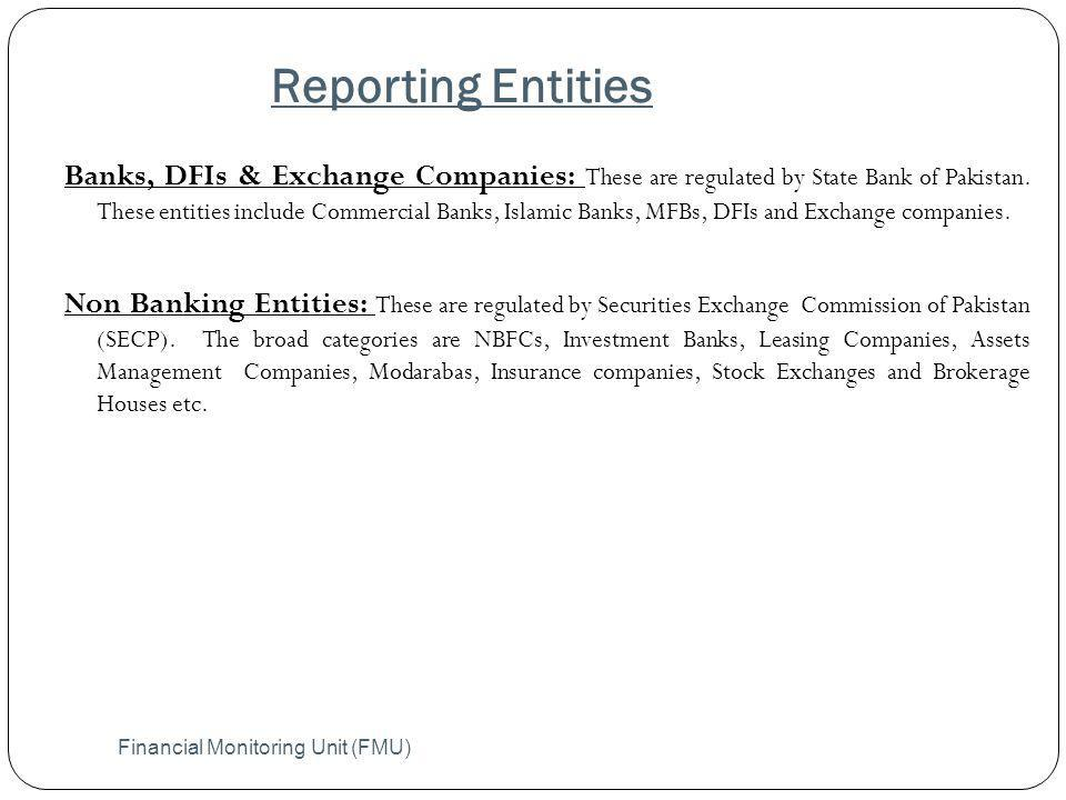 Reporting Entities
