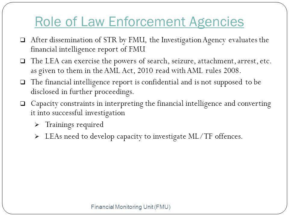 Role of Law Enforcement Agencies