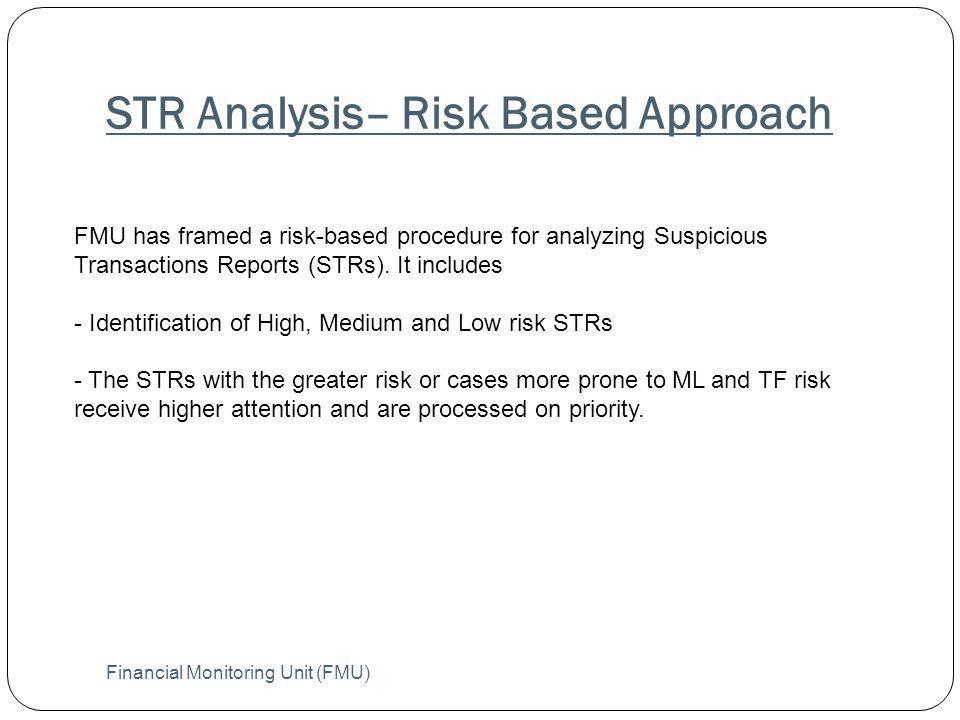 STR Analysis– Risk Based Approach