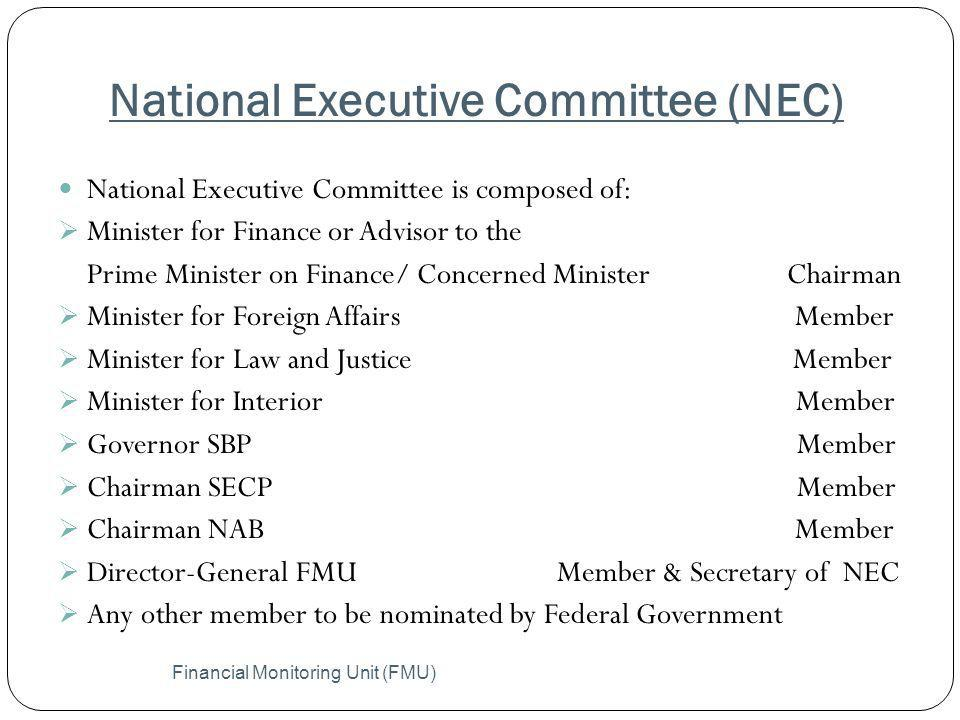 National Executive Committee (NEC)
