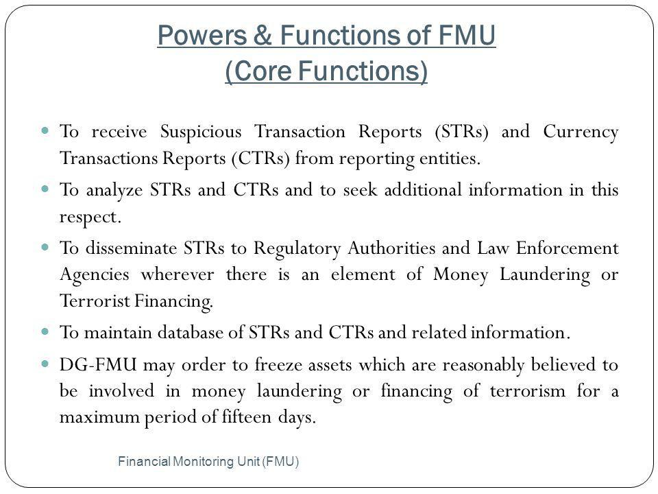 Powers & Functions of FMU (Core Functions)
