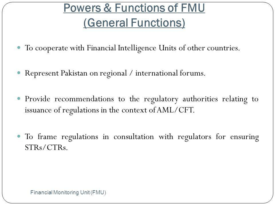 Powers & Functions of FMU (General Functions)