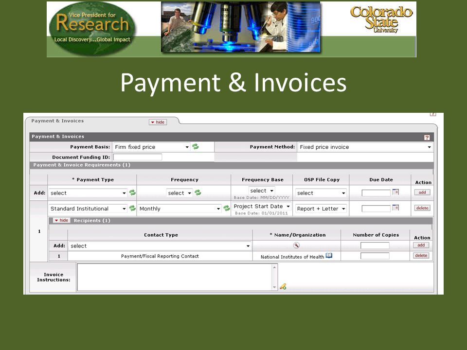 Payment & Invoices