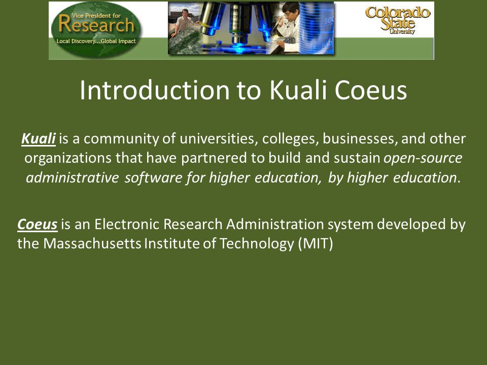 Introduction to Kuali Coeus