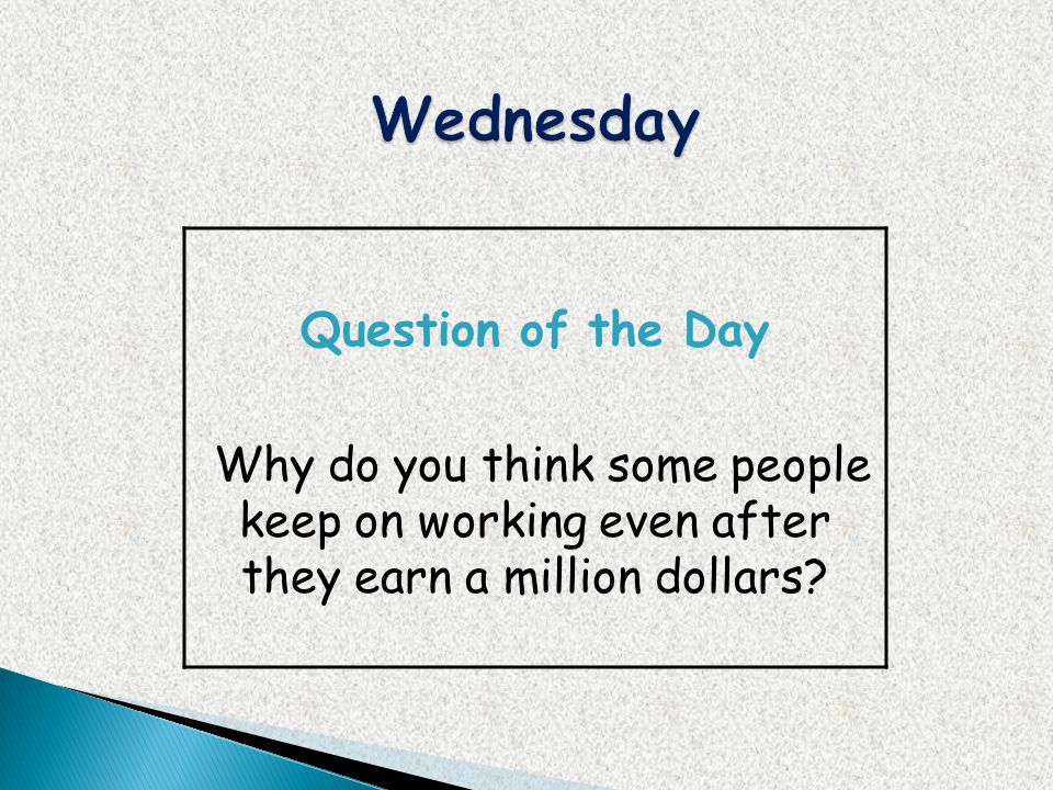 Wednesday Question of the Day