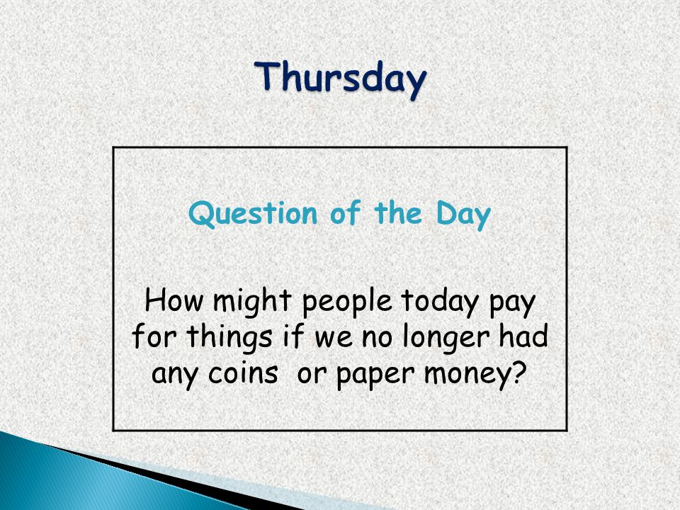 Thursday Question of the Day