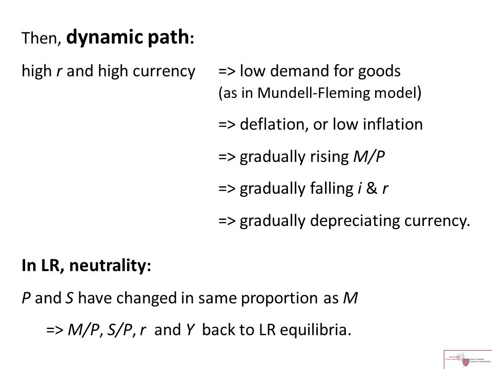 In LR, neutrality: Then, dynamic path: