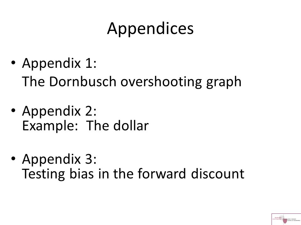 Appendices Appendix 1: The Dornbusch overshooting graph