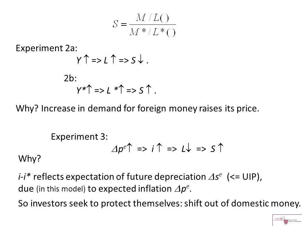 Experiment 2a: Y  => L  => S  .