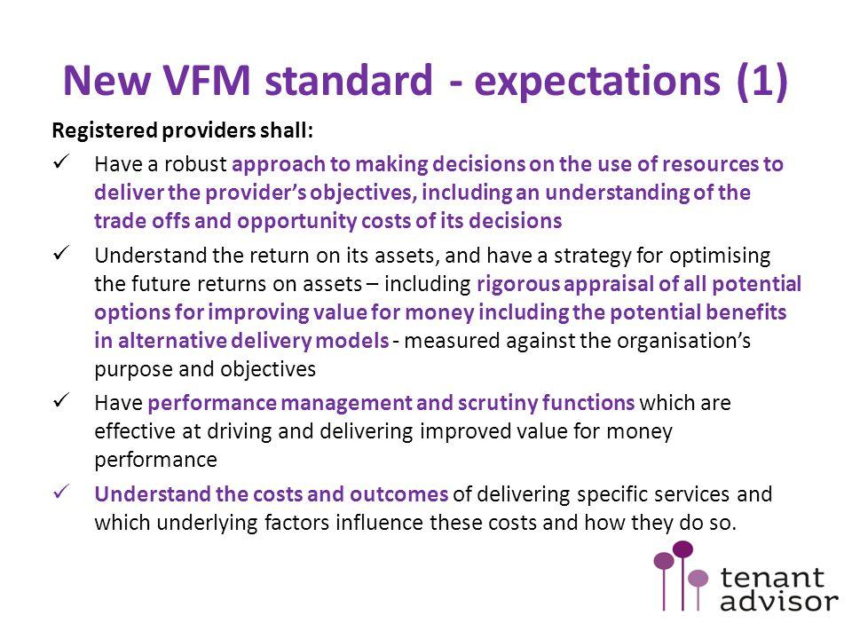New VFM standard - expectations (1)