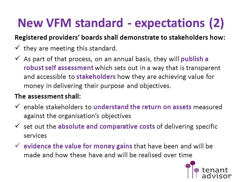 New VFM standard - expectations (2)