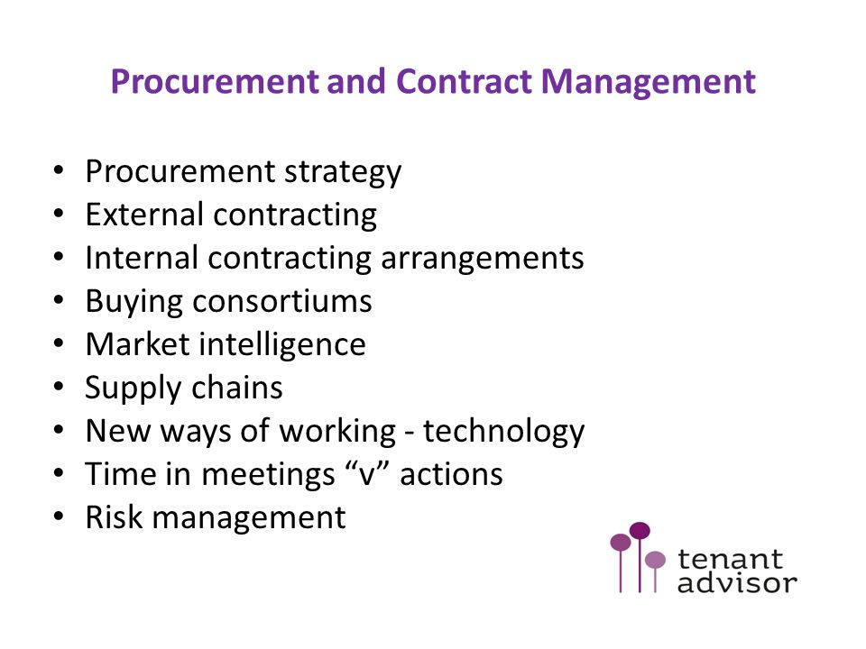Procurement and Contract Management