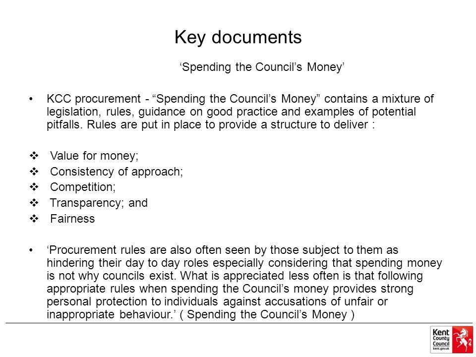 'Spending the Council's Money'