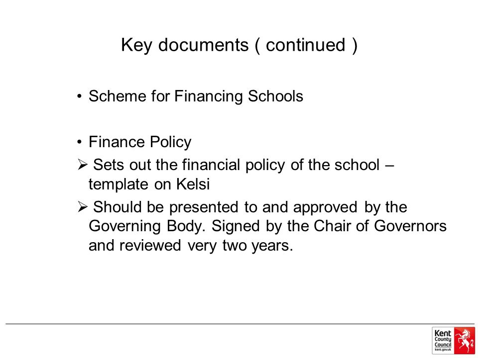 Key documents ( continued )