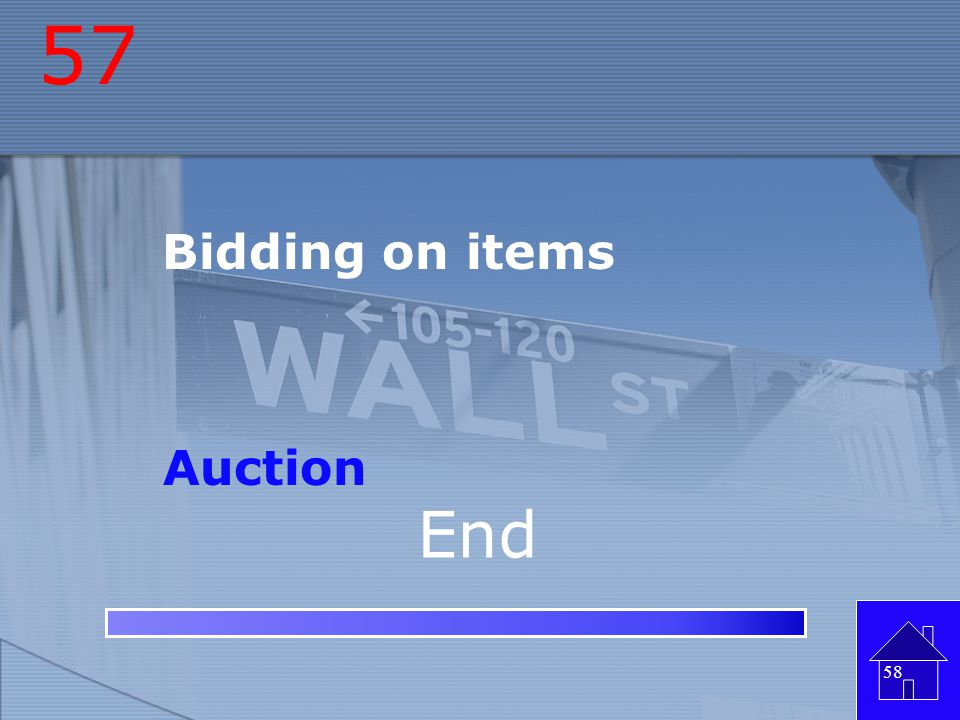 57 Bidding on items Auction End