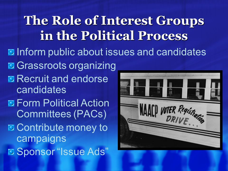 The Role of Interest Groups in the Political Process