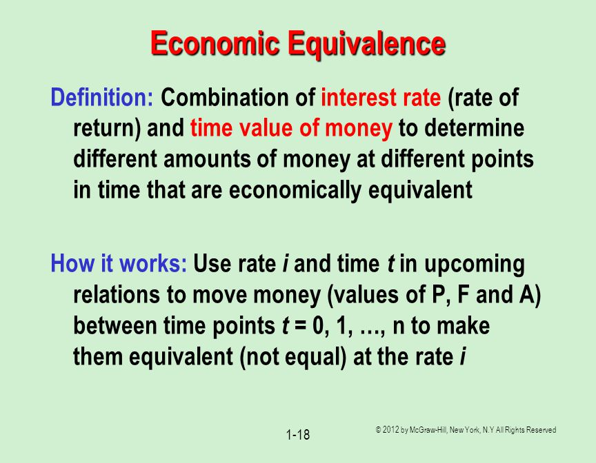 Economic Equivalence
